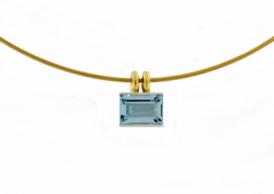 Aquamarin, Platin, Gold