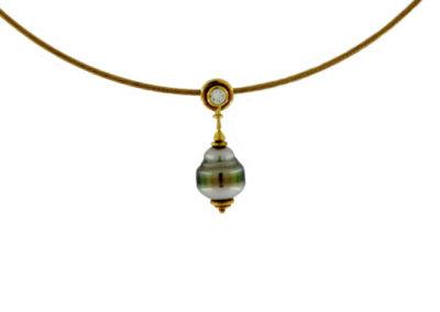 Tahiti Perle, Gold, Brillant