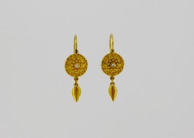 Ohrhänger, Gold granuliert