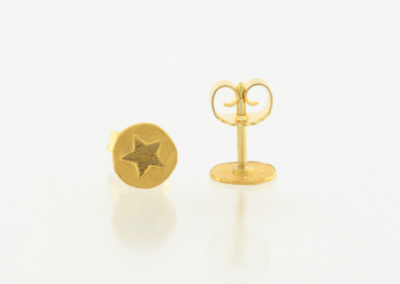 Ohrstecker, Stern, Gold