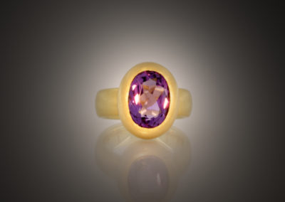 Ring, Amethyst, Gold