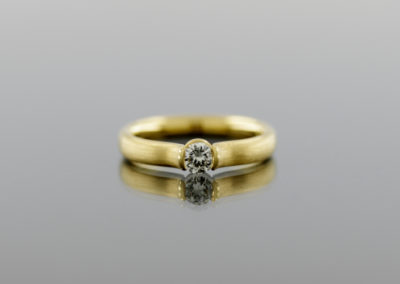 Ring, Brillant, Gold