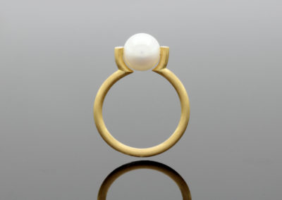 Ring, Perle, Gold