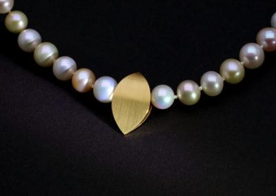Süsswasser Perlen, Gold, Verschluß