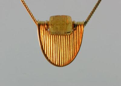 Wappen Anhänger Citrin Gold